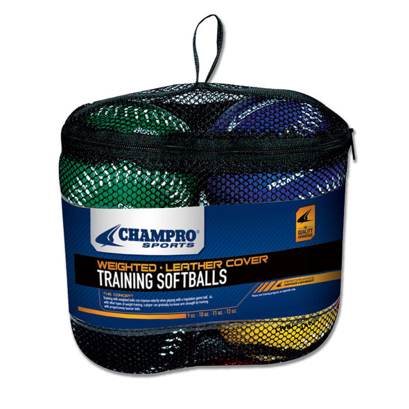 Champro Sports Weighted Training Softball Set (4 Pack): CSB7S