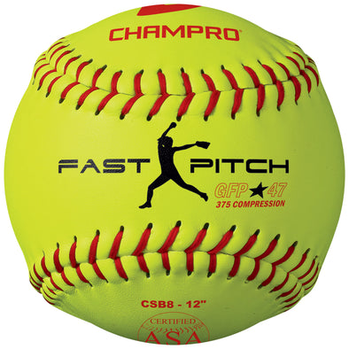 "Champro ASA Duracover 12"" 47/375 Composite Fastpitch Softballs: CSB8"
