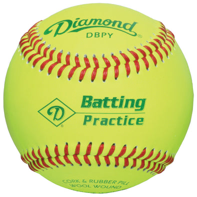 Diamond Batting Practice Baseballs: DBPY
