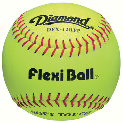 "Diamond FlexiBall 12"" Leather Fastpitch Softballs: DFX-12RFP"