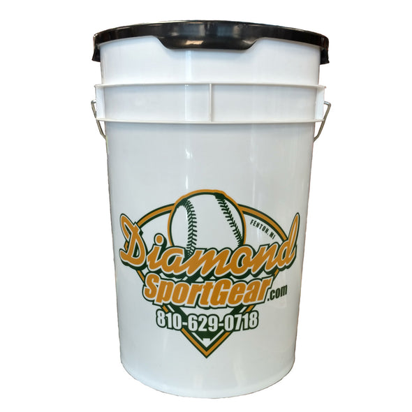 Diamond DSG 6 Gallon Ball Bucket with Padded Lid: BKT-DSG