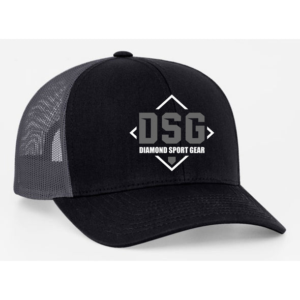 Diamond Sport Gear Black / Graphite Snapback Hat: 104C-BKGR