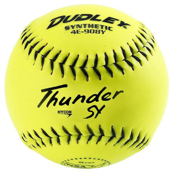 "Dudley NSA Thunder SY Senior 12"" 44/400 Synthetic Slowpitch Softballs: 4E-908Y"