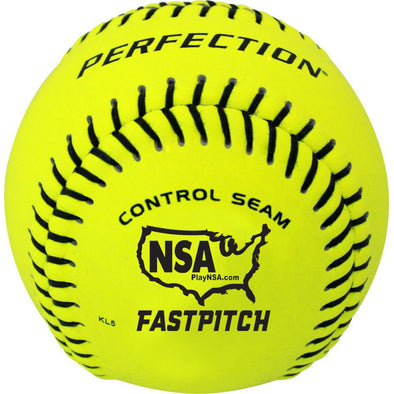 "Baden NSA Perfection 12"" 47/375 Leather Fastpitch Softballs: FPN12"