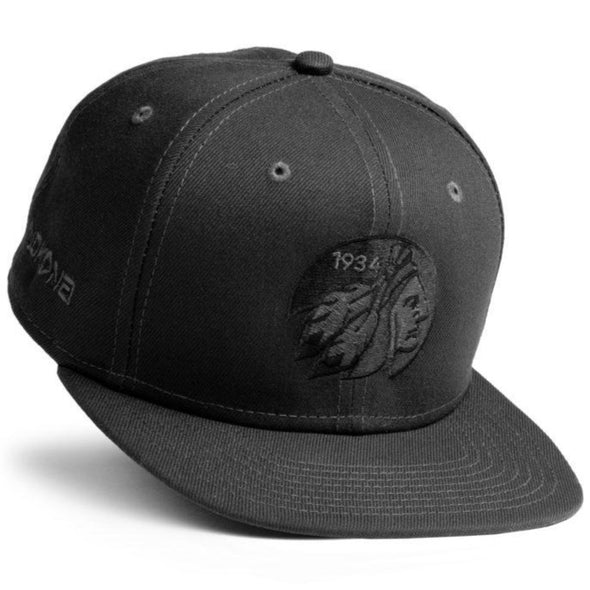 Nokona Indian Head Snapback Hat: HT-GRAPHITEHAT