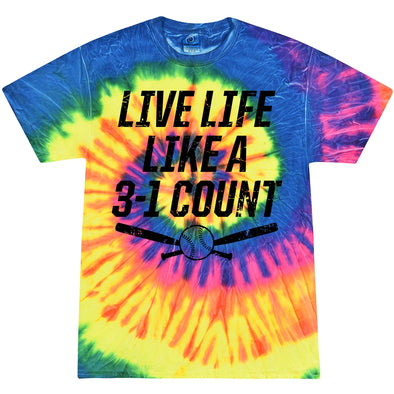 DSG Apparel Live Life Like 3-1 Count Tie Dye T-Shirt: TD-LIFE31