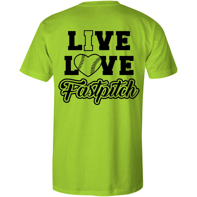 DSG Apparel Live Love Fastpitch T-Shirt: GD-LLFP