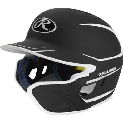 Rawlings Mach Two Tone Matte Batting Helmet with EXT Flap (Right Handed Batter): MACHEXTR