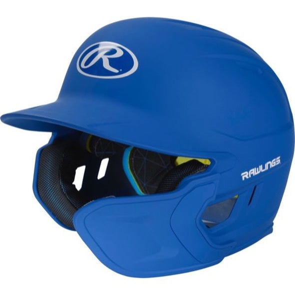 Rawlings Mach Matte Batting Helmet with EXT Flap (Right Handed Batter): MACHEXTR