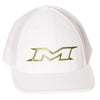 Miken Gold Limited Edition 404M Mesh Trucker Flex Fit Hat: MTRUCK-FGWHT