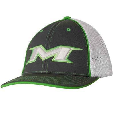 Miken Mesh Trucker Flex Fit Hat: MTRUCK-GRN