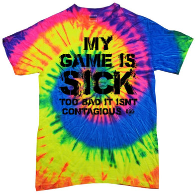 DSG Apparel My Game Is Sick Tie Dye T-Shirt: TD-SICK
