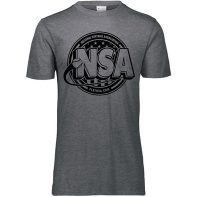 National Softball Association NSA Tone Tri Blend Short Sleeve Shirt