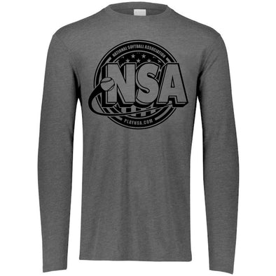 National Softball Association NSA Tone Tri Blend Long Sleeve Shirt