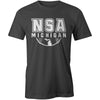 NSA Michigan Graphite Cooling Performance Crewneck Shirt: A4282-G