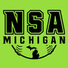 NSA Michigan Lime Cooling Performance Crewneck Shirt: A4282-L