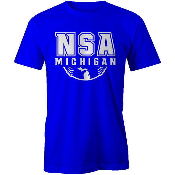 NSA Michigan Royal Cooling Performance Crewneck Shirt: A4282-R