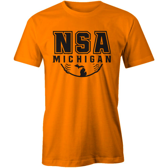 NSA Michigan Safety Orange Cooling Performance Crewneck Shirt: A4282-SO