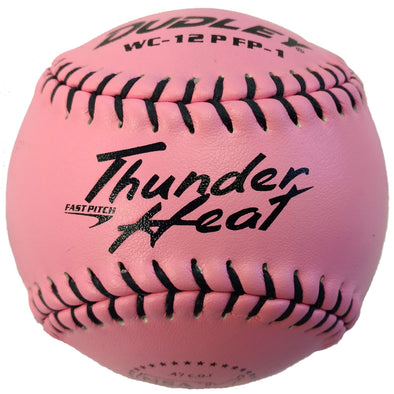 "Dudley NSA Thunder Heat Pink 12"" 44/400 Leather Fastpitch Softballs (Dozen): 4E-874Y"