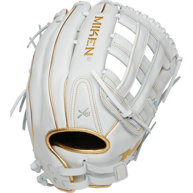 "Miken Gold Limited Edition 13.5"" Slowpitch Glove: PRO135-WG"