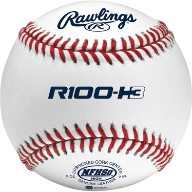 Rawlings R100 NFHS NOCSAE High School Baseballs: R100-H3