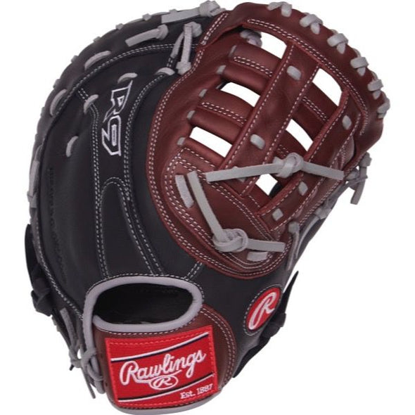 "Rawlings R9 12.5"" Baseball First Base Mitt: R9FM18BSG"