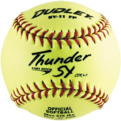 "Dudley Non Association Thunder SY 11"" 47/375 Synthetic Fastpitch Softballs: 43-712Y"