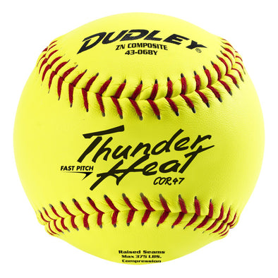 "Dudley Non Association Thunder Heat 12"" 47/375 Composite Fastpitch Softballs: 43-068Y"