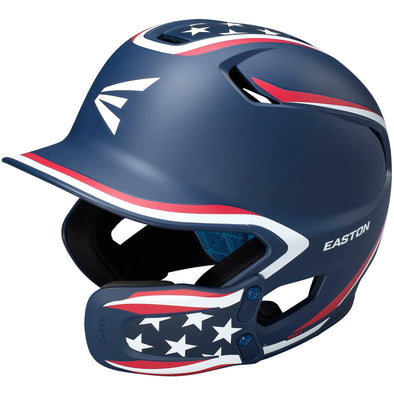 Easton Z5 2.0 Matte Stars & Stripes Batting Helmet with Universal Jaw Guard: A168543SS / A168544SS