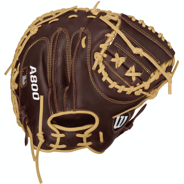 "Wilson A800 Showtime 34"" Baseball Catcher's Mitt: WTA08RB16CM34"
