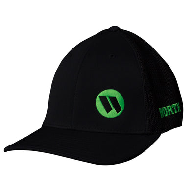 9e393f41ecdcd6 Worth Mesh Trucker Flex Fit Hat: WTRUCK-BB