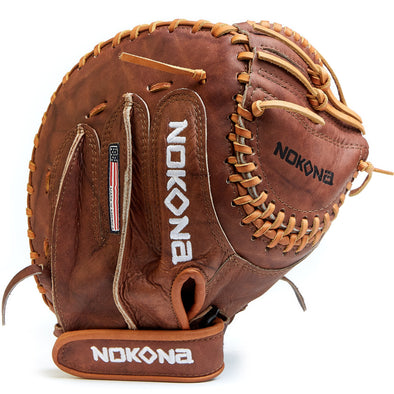 "Nokona Walnut 32.5"" Fastpitch Catcher's Mitt: W-V3250"