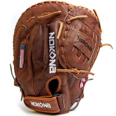"Nokona Walnut Classic 14"" Softball First Base Mitt: W-N80"