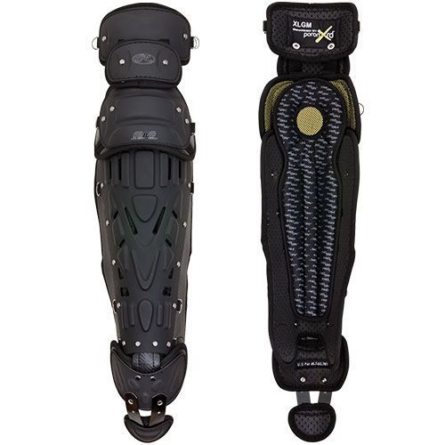 Rawlings XRD Matte Black Out Catcher's Leg Guards: XCGM