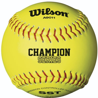 "Wilson NFHS Polycore 12"" 47/375 Leather Fastpitch Softballs: WTA9011BSST"