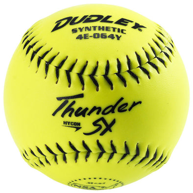 "Dudley NSA Thunder SY Hycon 11"" 52/275 Synthetic Slowpitch Softballs: 4E-064Y"