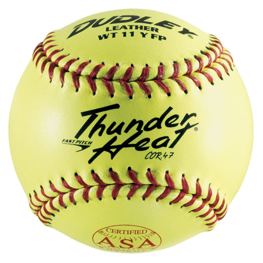 "Dudley ASA Thunder Heat 11"" 47/375 Leather Fastpitch Softballs: 4A-531Y"
