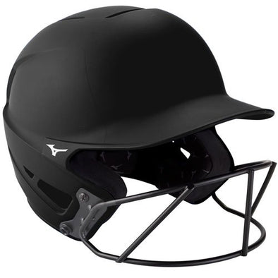 Mizuno F6 Solid Fastpitch Batting Helmet with Mask: 380395 / 380397
