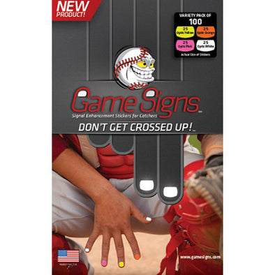 Markwort Game Signs Signal Stickers for Catcher's (100 Pack): GSIGN
