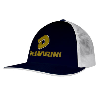 DeMarini Stacked D Flex Fit Hat: DEMANBWTOG