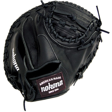 "Nokona Bloodline Black 32"" Baseball Catcher's Mitt: BL-3200C-BLK"