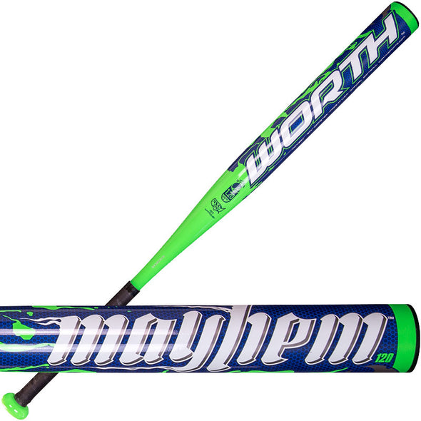 2014 Worth Mayhem Booger Balanced NSA / USSSA Slowpitch Softball Bat: MAY120U