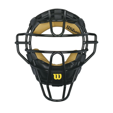Wilson Dyna-Lite Steel Umpire Mask with Leather Pads: WTA3009XBLA WV