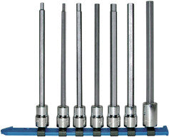 "3/8"" Dr. 5 Pc. Metric Hex Bit Socket Set - Long Length, 4mm - 10mm-Wright Tools"