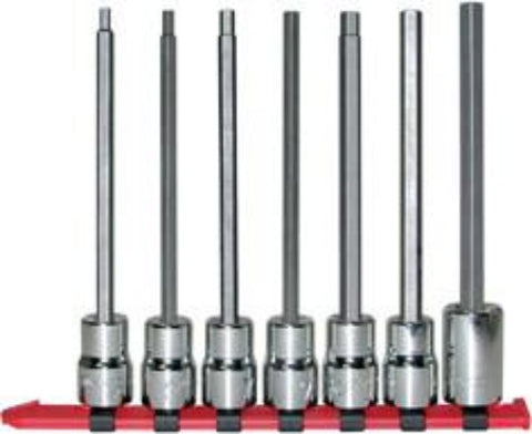 "1/2"" Dr. 7 Pc. Hex Bit Socket Set - Long Length, 1/8"" - 5/8""-Wright Tools"