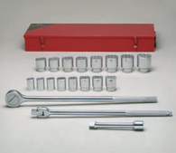 "3/4"" Dr., 19 Pc. 12 Pt. Std. Socket Set, 7/8"" - 2""-Wright Tools"