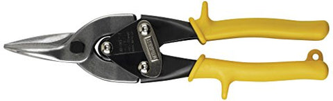 "10"" Midwest Aviation Snips, Cuts Straight, Yellow-Wright Tools"