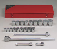 "3/4"" Dr., 22 Pc. Socket Set, 7/8"" - 2""-Wright Tools"