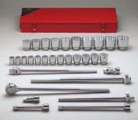 "3/4"" Dr., 31 Pc. 12 Pt. Std. Socket Set, 7/8"" - 2-3/8""-Wright Tools"