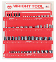 "61 Pc. 1/2"" Dr. 6 Pt. Standard & Deep Sockets & Hex Bits-Wright Tools"